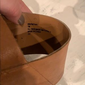Steve Madden Shoes - Steve Madden Camel Leather Wedges SZ 7